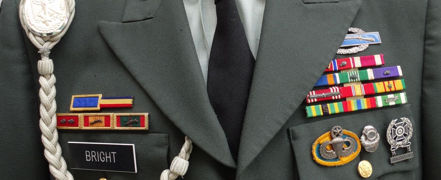 Piezas nombradas de Veteranos